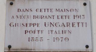 Placa em homenagem à Giuseppe Ungaretti